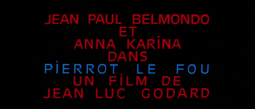 Pierrot le Fou Quotes in French Pierrot le Fou Blu Ray